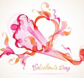 Abstract background with heart Royalty Free Stock Photo