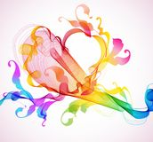 Abstract background with heart Royalty Free Stock Photos