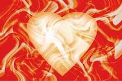 Abstract  background with heart. Red background with abstract heart Stock Photo