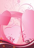 Abstract background with heart. Illustration of background with heart & flowers Royalty Free Stock Photo