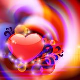 Abstract background with heart Royalty Free Stock Image