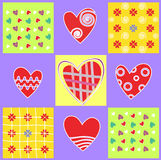 Abstract background with heart and love Royalty Free Stock Photo