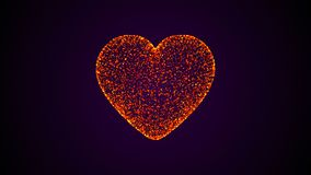 Abstract background of a heart made up of particles. Digital backdrop. 3D rendering Royalty Free Stock Photos