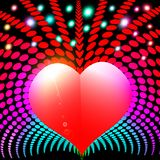 Abstract background with heart and rays spectrum. Illustration abstract background with heart and rays spectrum Royalty Free Stock Image