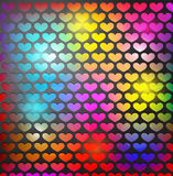 Abstract background with heart shaped grid Stock Photos