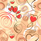 Abstract background with heart shapes Stock Photo