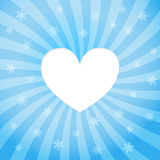 Abstract background. Heart with snow. Royalty Free Stock Photos