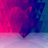 Abstract background of heart of triangles Royalty Free Stock Photos