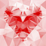 Abstract background with heart of triangles Stock Photos