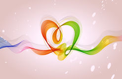 Abstract  background with heart and wave Royalty Free Stock Photo