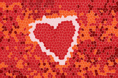 Abstract background with hearth sign. And mosaic pattern for your design royalty free illustration