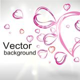 Abstract background from hearts Royalty Free Stock Images