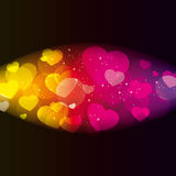 Abstract background with hearts. Image of abstract background with hearts royalty free illustration