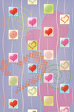 Abstract background with hearts Royalty Free Stock Image
