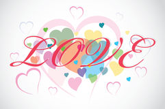 Abstract background from hearts Royalty Free Stock Image