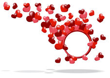 Abstract background with hearts Stock Photo