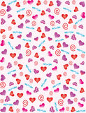 Abstract background with hearts Stock Images