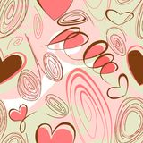 Abstract background with hearts Stock Photos