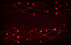 Abstract background with hearts royalty free stock photos