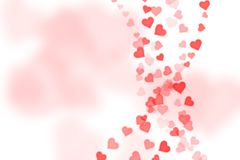 Abstract Background with hearts. Shape and boke background Vector Illustration