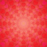 Abstract background of hearts arranged in a circle Stock Photos