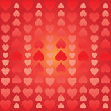 Abstract background of hearts arranged vertically Royalty Free Stock Image