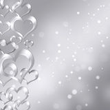 Abstract background of hearts Stock Images