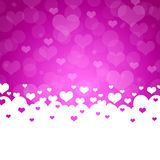 Abstract background of hearts Royalty Free Stock Photos