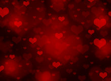 Abstract background of hearts Stock Photography