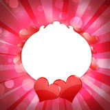 Abstract background of hearts Stock Image