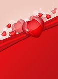 Abstract background of hearts Stock Photos