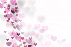 Abstract background with hearts and copy space Stock Photography