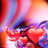 Abstract background with hearts Royalty Free Stock Images