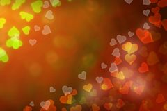 Abstract Background with hearts. Shape and boke background Stock Photography