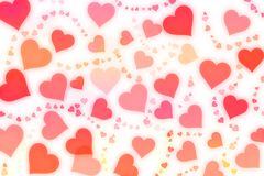 Abstract Background with hearts. Shape on white Stock Image