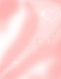 Abstract background with hearts. Simple pink gradient abstract background with hearts Vector Illustration