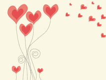 Abstract background with hearts for St. Valentine day. Concept of love. Vector illustration Stock Photography
