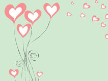 Abstract background with hearts for St. Valentine day. Concept of love. Vector illustration Stock Photos