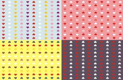Abstract background from hearts. St. Valentines day illustration with multicorored hearts Stock Photography