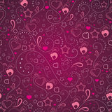 Abstract background with hearts and stars. Abstract seamless background with hearts and stars Stock Illustration