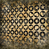 Abstract background. With hearts and stars in circles Royalty Free Stock Photo
