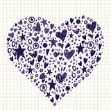 Abstract Background with Hearts and Stars Shapes. Stock Photography