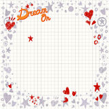Abstract Background with Hearts and Stars Shapes. Royalty Free Stock Image