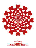 Abstract background with hearts, unlimited shrink Stock Photo