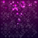 Abstract background with hearts. Valentine Day. Vector illustration. Red color. Abstract background with hearts. Valentine Day. Vector illustration. Purple vector illustration