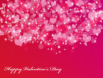 Abstract background with hearts. Abstract Valentine's day background with many hearts and stars Royalty Free Illustration