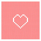 Abstract background from hearts Stock Photo
