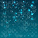 Abstract background with hearts. Vector illustration. Blue color stock illustration