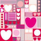 Abstract background with hearts. Royalty Free Stock Photos
