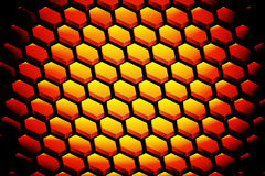 Abstract background with hexagon. Abstract background with many gold hexagon on black Royalty Free Stock Photo